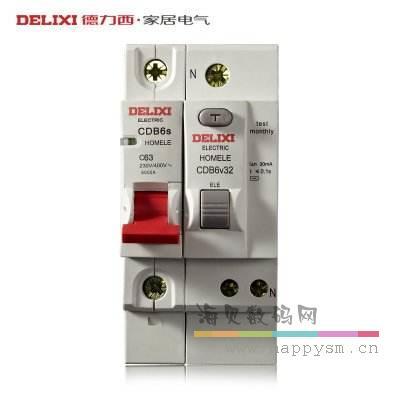 德力西 dz47ple 32a 漏电保护器 1p 剩余电流动作断路器